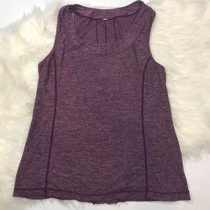 lululemon athletica Tops - Lululemon Ruffled Heathered Purple Dash Tank